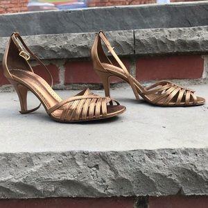 Bronze Antonio Melani Blair Heeled Strappy Sandals